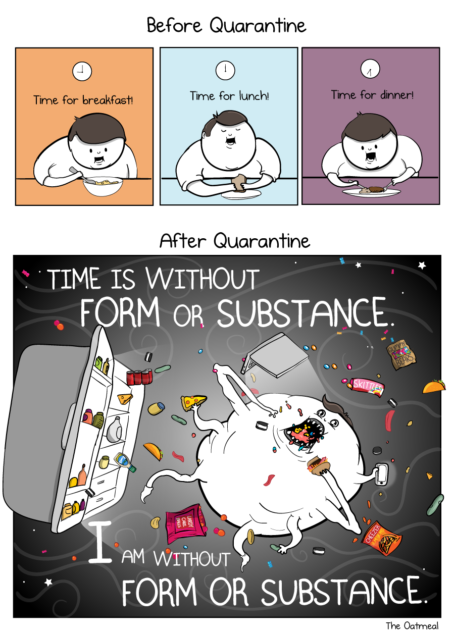 "oatmeal comic that says ""time is without form or substance"""